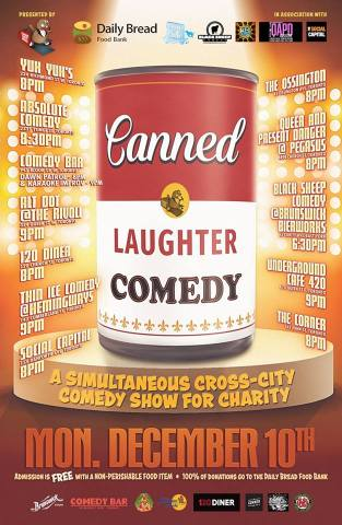 Canned Laughter dig poster