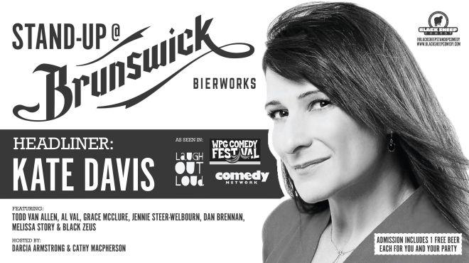Kate Davis Stand Up Comedy at Brunsick Bierworks in East York