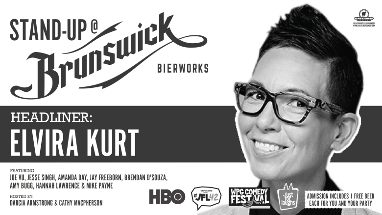 Elvira Kurt Headlines Black Sheep Comedy's Stand Up @ Brunswick Bierworks