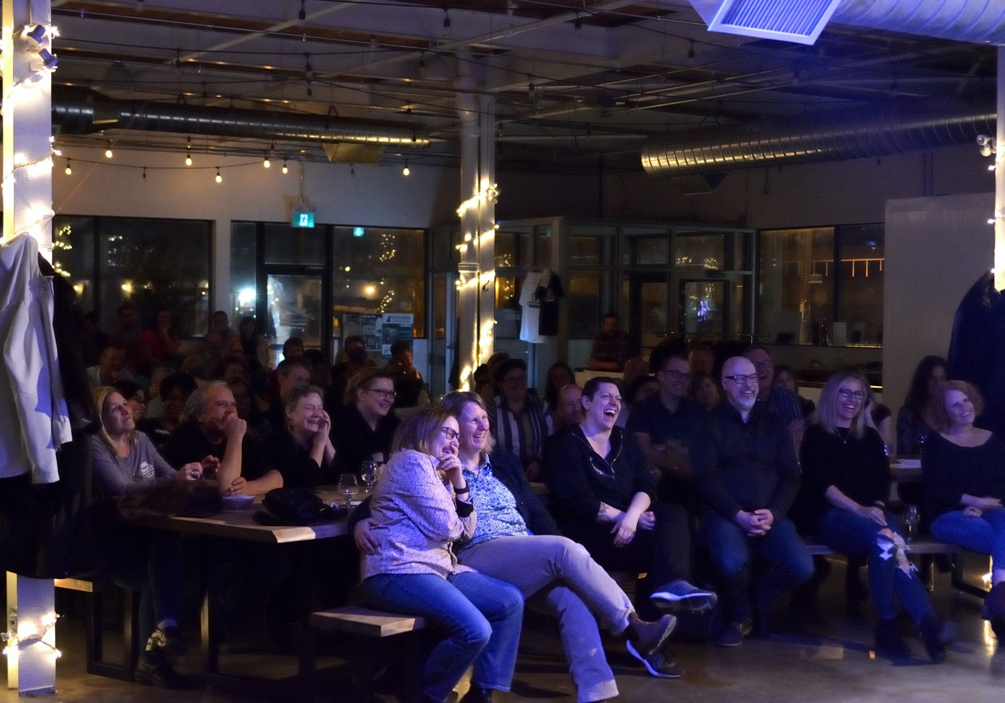 Audience at Stand Up Comedy Show