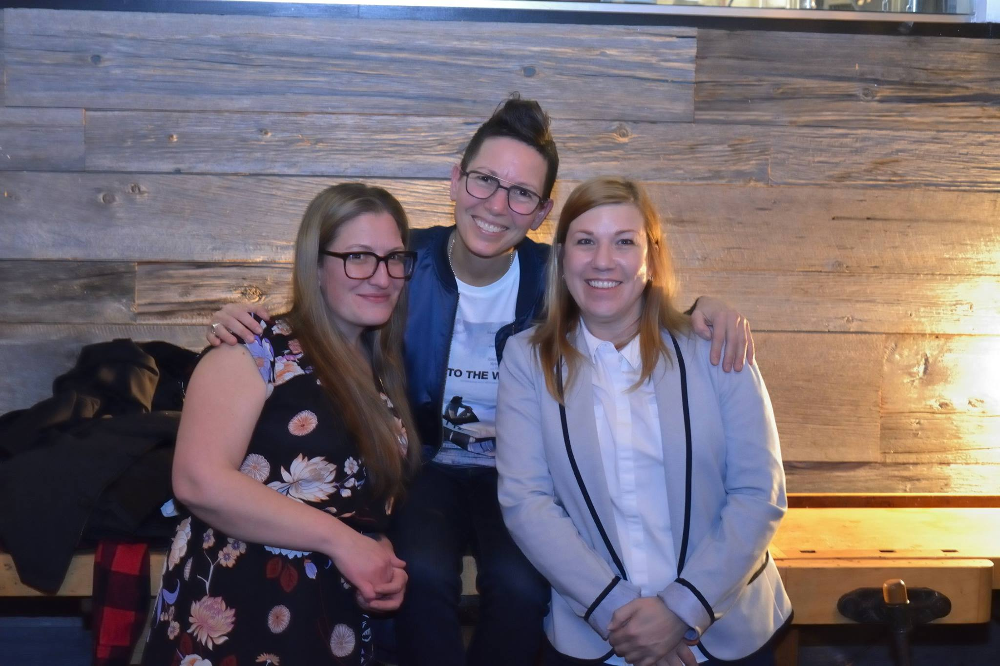 Elvira Kurt with Darcia and Cathy