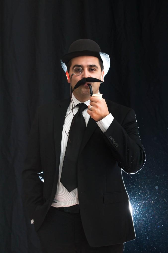 Guy with fake moustache headshot by JnK Imagery Burlington