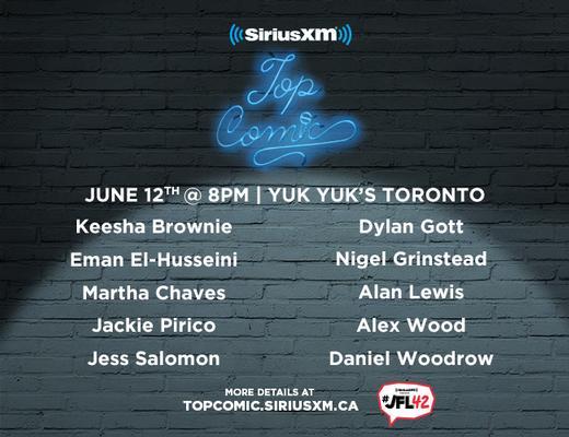 Sirius XM Top Comic Finalists Toronto Sirius XM Top Comic Finalists 2019