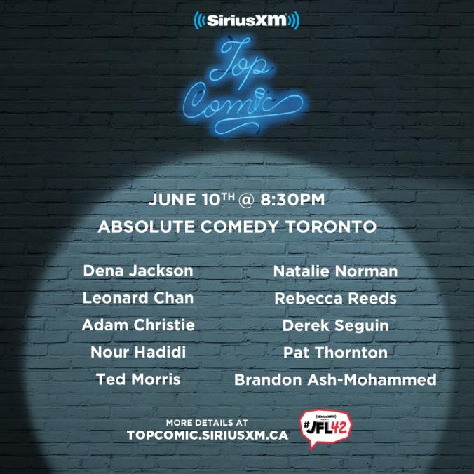 Sirius XM Top Comic Finalists Toronto