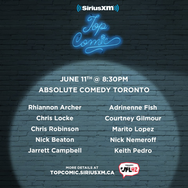 Toronto Sirius XM Top Comic Finalists