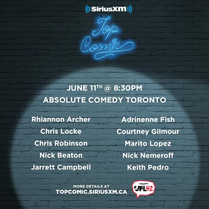 Toronto Sirius XM Top Comic Finalists