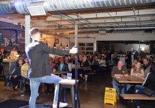 Kyle Brownrigg with Brunswick Audience