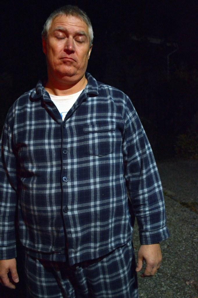 This is Comedian Todd Graham sleepwalking.